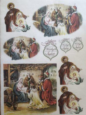 Religios - Hartie de orez Craciun ITD | 3 modele