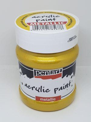 Vopsea acrilica metalica 230 ml PentArt   5 culori