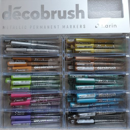 Brush marker metalic Karin 28Z2 | 10 culori