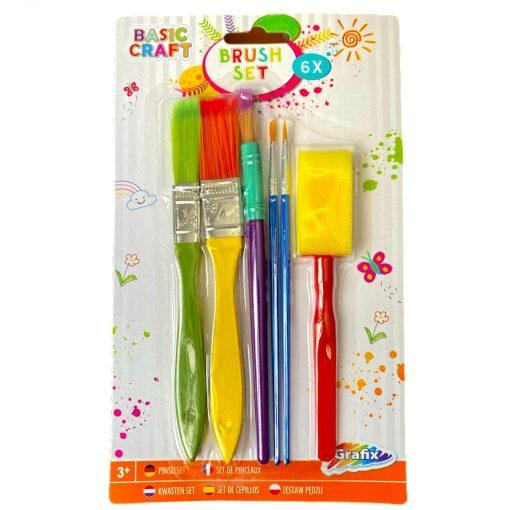 Set 6 pensule pentru pictură Grafix