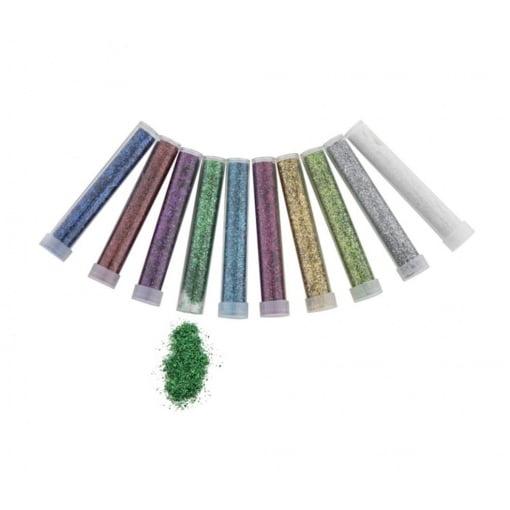 Pudra Glitter Tuburi 10 culori Grafix 100003