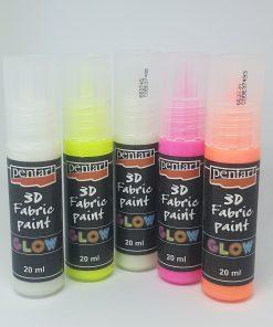 Vopsea textile 3D Glow 20 ml PentArt   5 culori