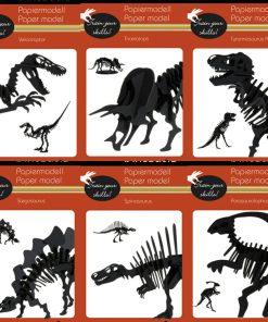 Model 3D hartie dinozauri Fridolin | 6 modele