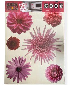 Autocolant perete flori roz AG Design F406