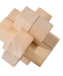 IQ Test puzzle lemn cruce Fridolin 17456