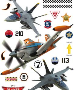 Autocolant perete Disney Avioane AG Design DK1772
