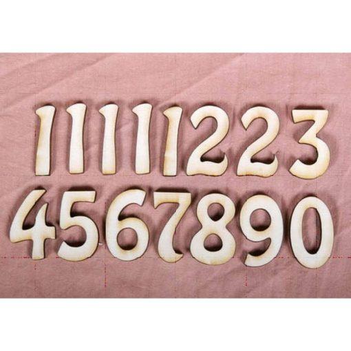 Cifre de lemn pentru ceas PentArt | 2 modele
