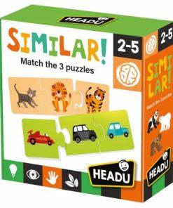 Puzzle 3 piese Similar! Headu 20768