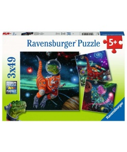 3 x Puzzle dinozauri in spatiu Ravensburger 05 127 4