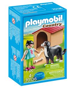 Set Viata la tara cusca caine Playmobil 70136