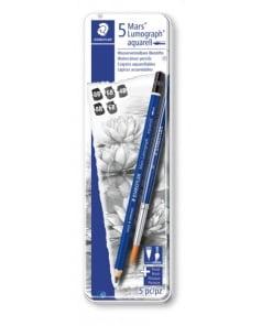 Creioane grafit si acuarela Mars Lumograph set Staedtler
