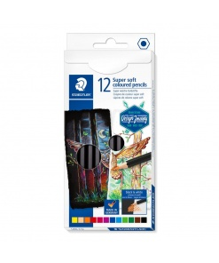 Creioane colorate Super Soft set 12/24 Staedtler