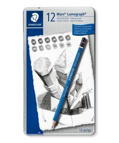 Creioane grafit Mars Lumograph 6/12/24 Staedtler